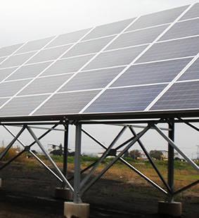 太陽光パネル設置後の写真